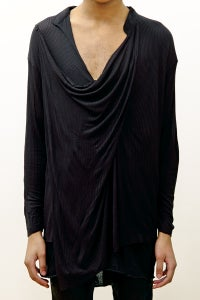 Image of Drape Shirt without Button Stand