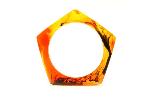 Image of Tortoiseshell Slender Pentagon Bangle