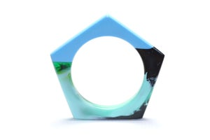 Image of Planet Coloured Pentagon Bangle