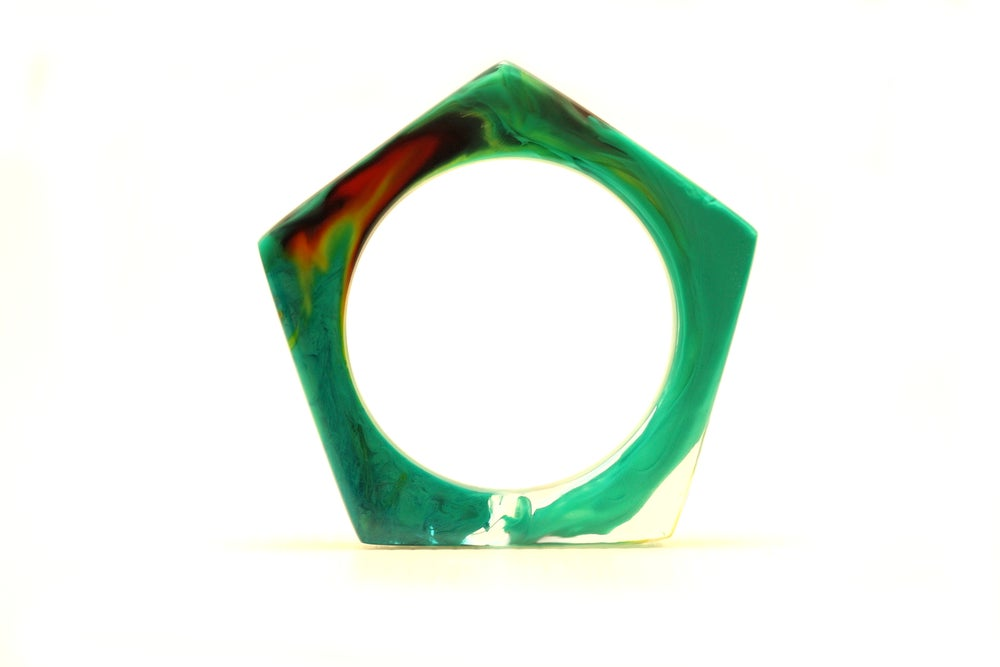 Image of Jade Pentagon Bangle