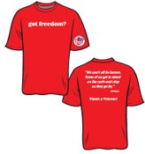 Image of Got Freedom? T-shirts (red)