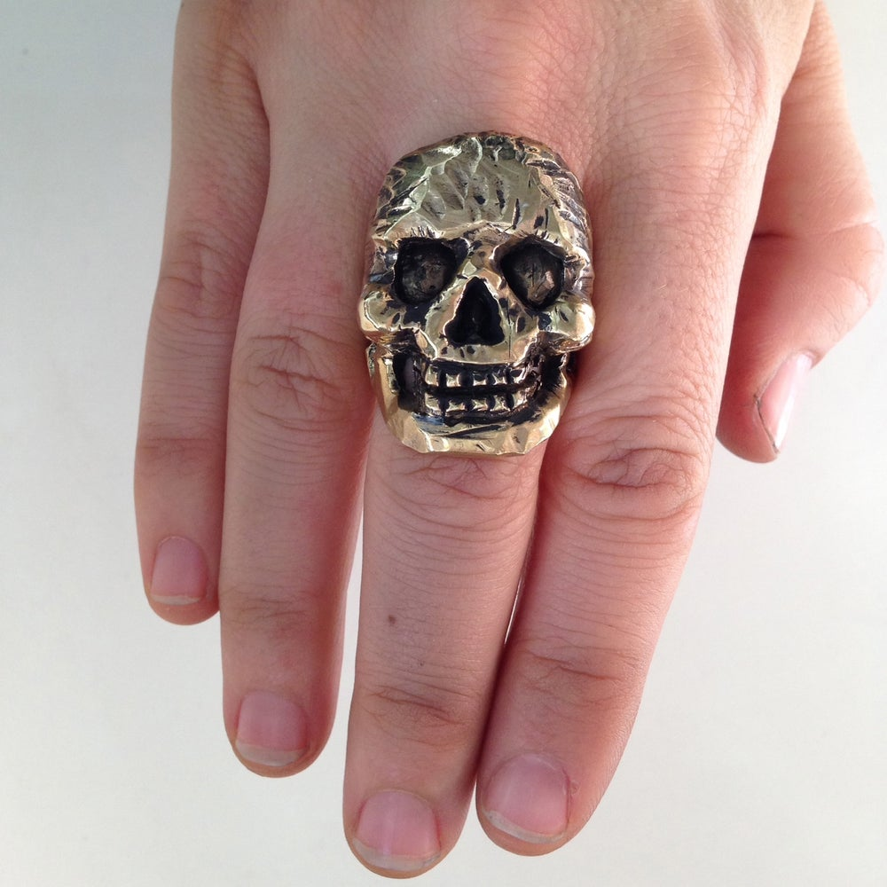 Image of The Laugh Your Bones Off Skull Ring