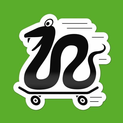 Image of Skateboard Snake Sticker