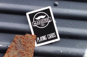 Image of Pre-Order - MANSTEEL MUSTACHE PLAYING CARDS