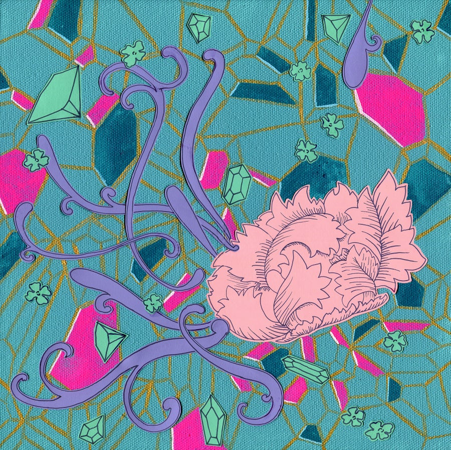 Image of Hot Pink and Teal