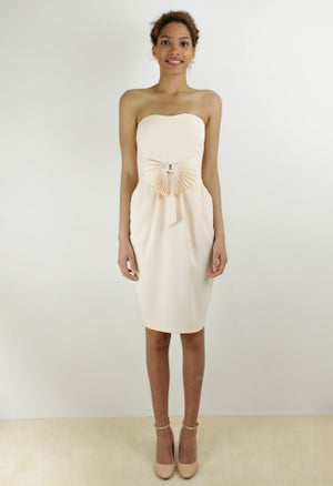 Image of PLEATED BOW DRESS