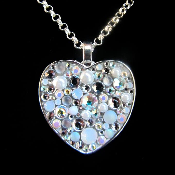 Ice Rocks Heart Silver Pendant