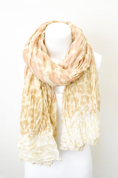 Image of Ladies - leopard print scarfs