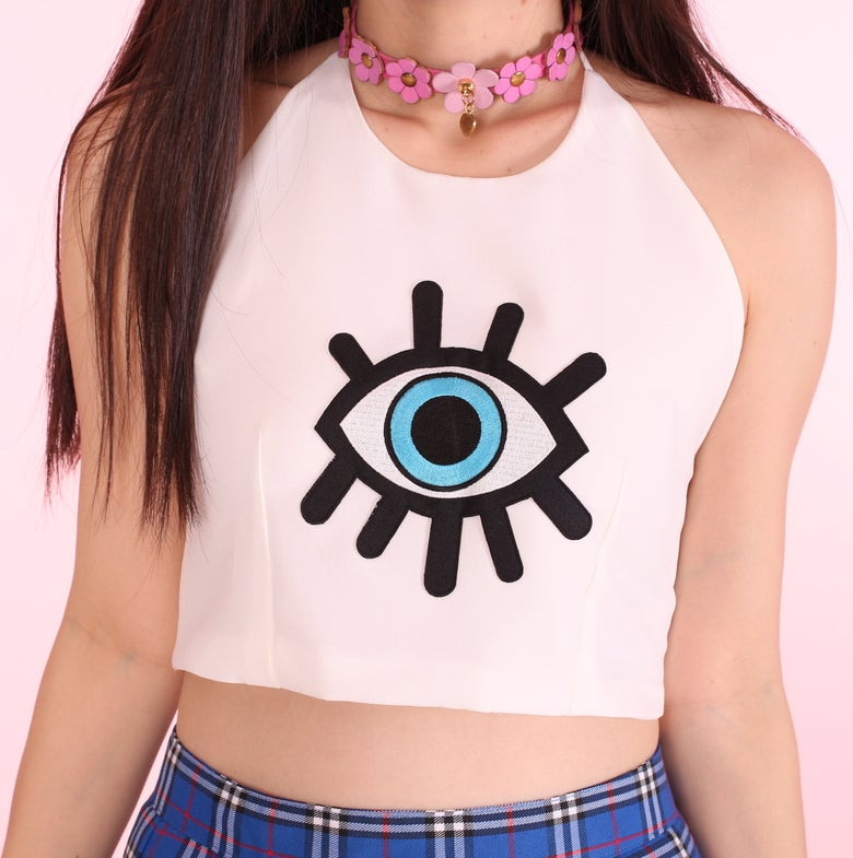 Image of Made To Order - The Eye Crop Top
