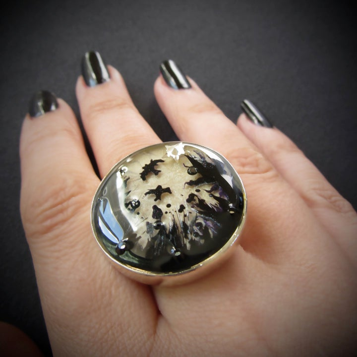 Forest Macabre Silver Ring