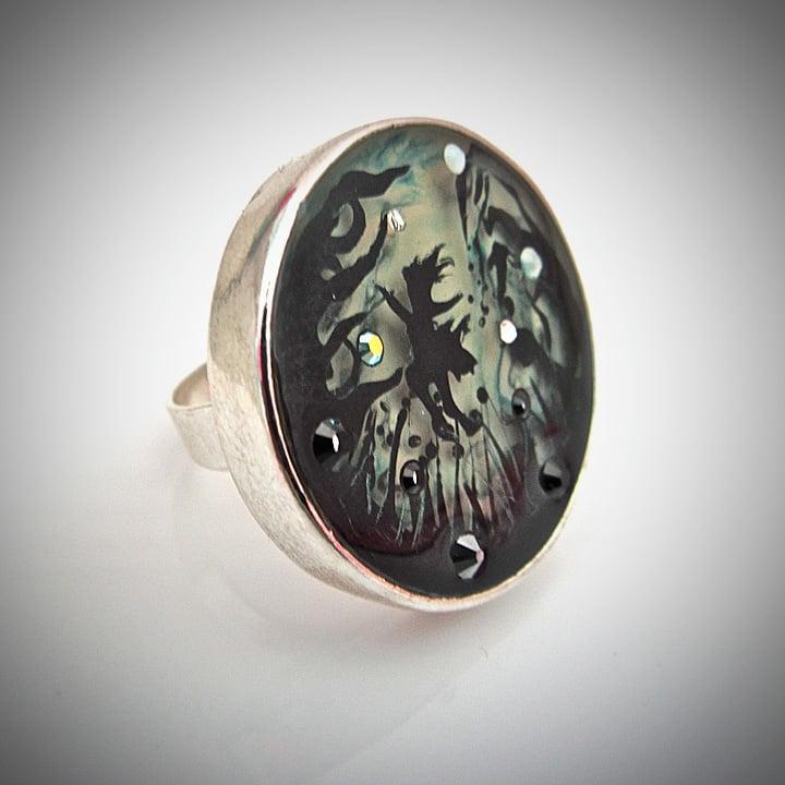 Enchanted Garden Silver Ring