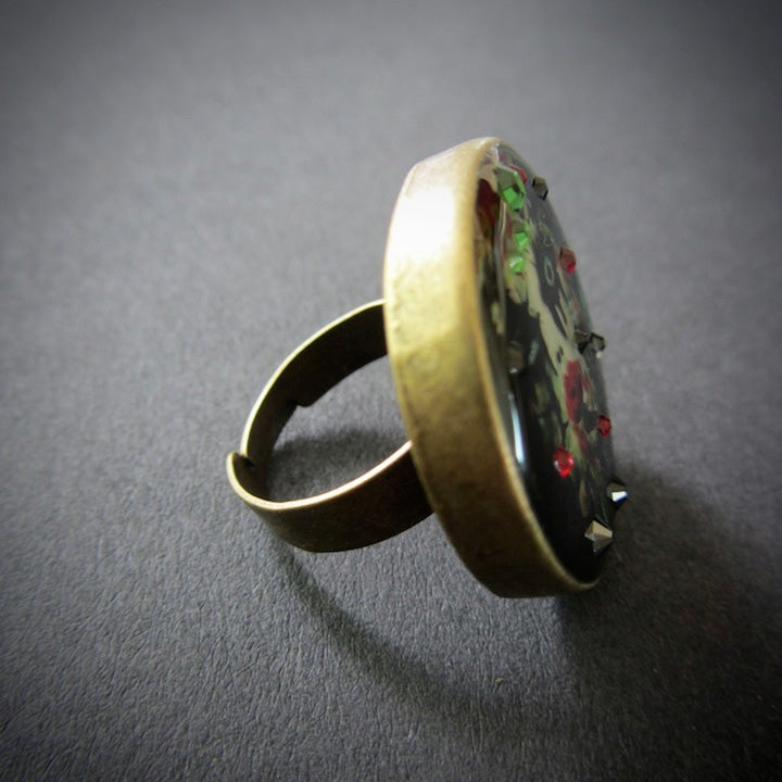 Poison Ivy Bronze Ring