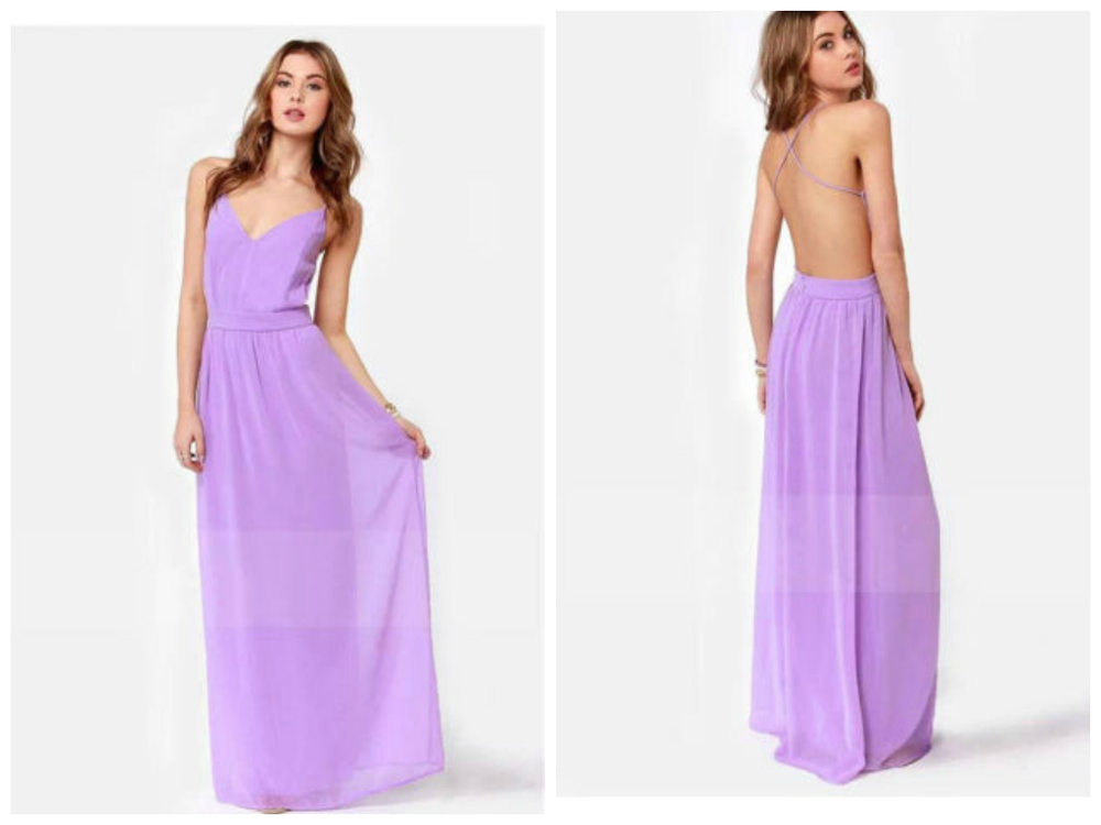 Pastel Purple Formal Dress Sailing Blue
