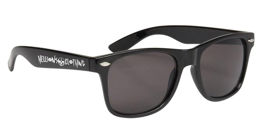 Image of Black Skull Sunglasses