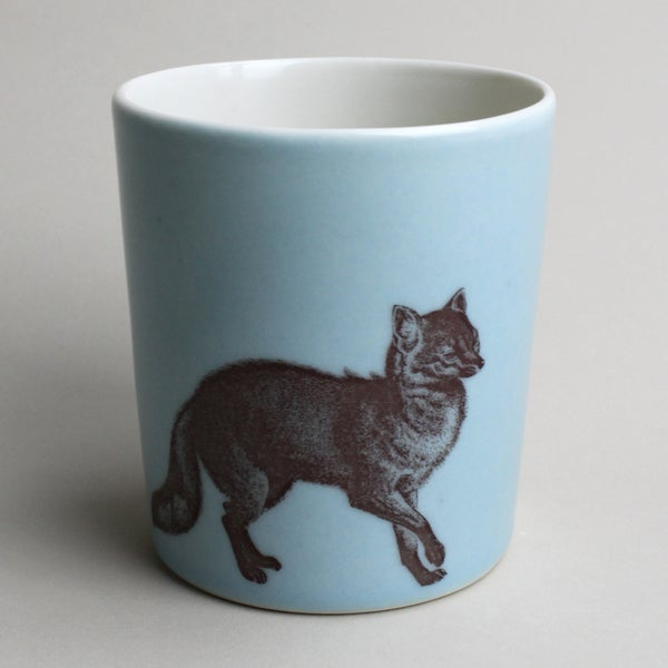 Image of 16oz tumbler with fox, ocean