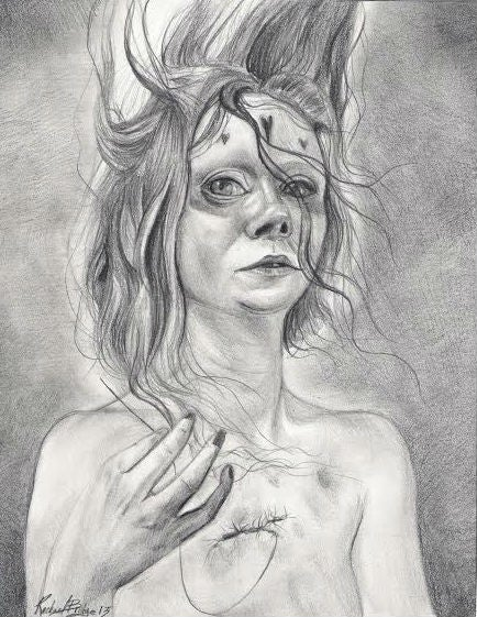 """Image of """"Allure-A'Lie"""" original drawing"""