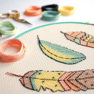 Image of Flutter cross-stitch kit