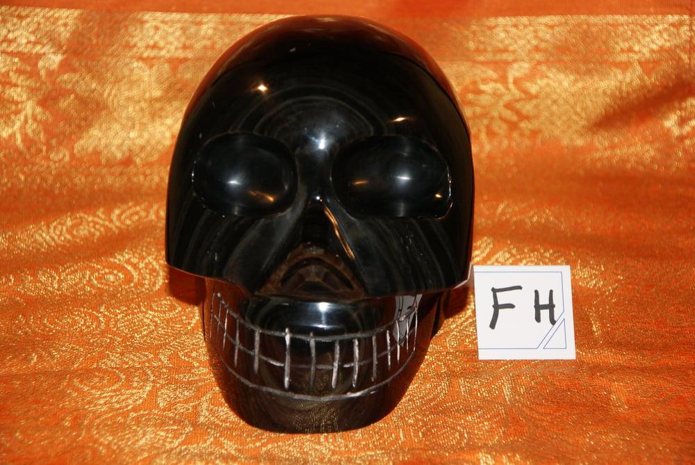 Image of Crâne Obsidienne Oeil Céleste 3,130 KG