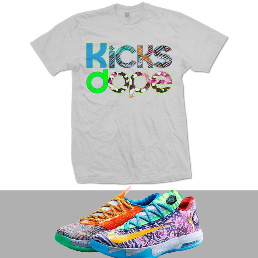 Image of WHAT THE KD WTKD KD 6 T SHIRT - GREY -