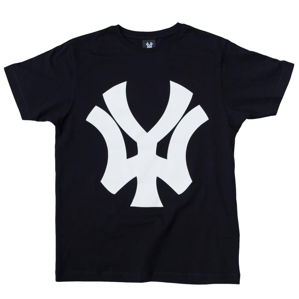 Image of 'WY' Block Logo BOLD T-Shirt - Black/White