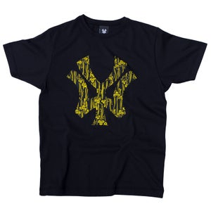 Image of 'WY' Block Logo T-Shirt - Black/Yellow