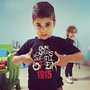 Image of Kids/Baby Open Wounds 1915 Tees (RED& BLACK)