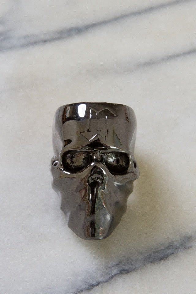 Image of DEATH SKULL RING (USA SIZE 10) - GUN METAL GREY