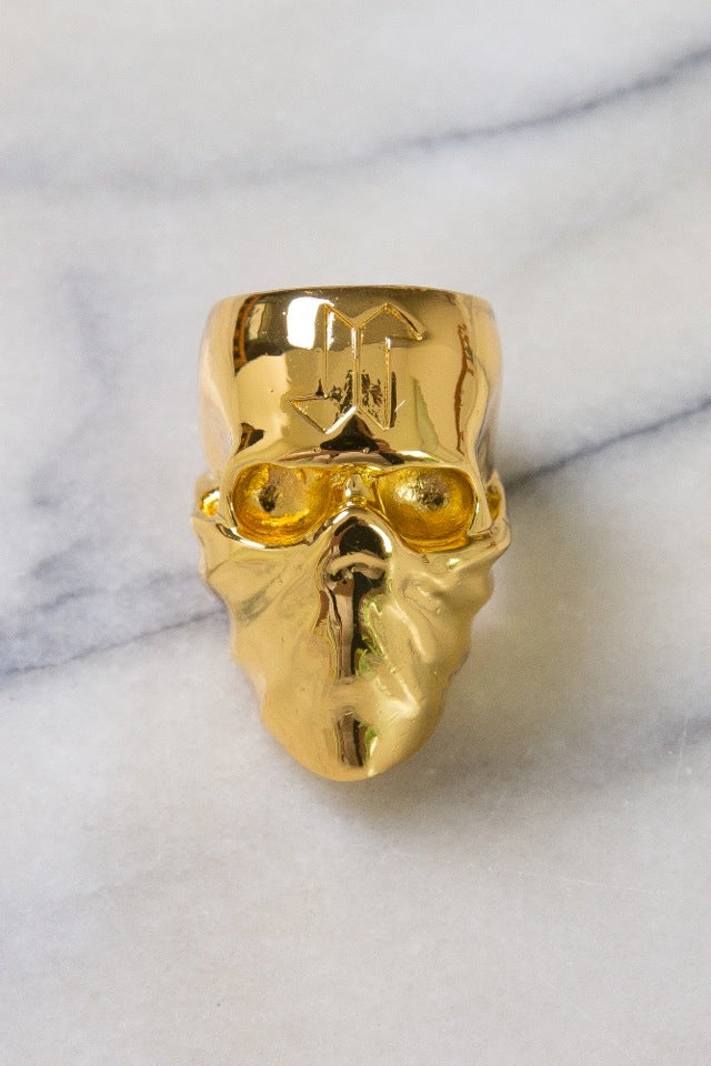 Image of DEATH SKULL RING (USA SIZE 10) - GOLD