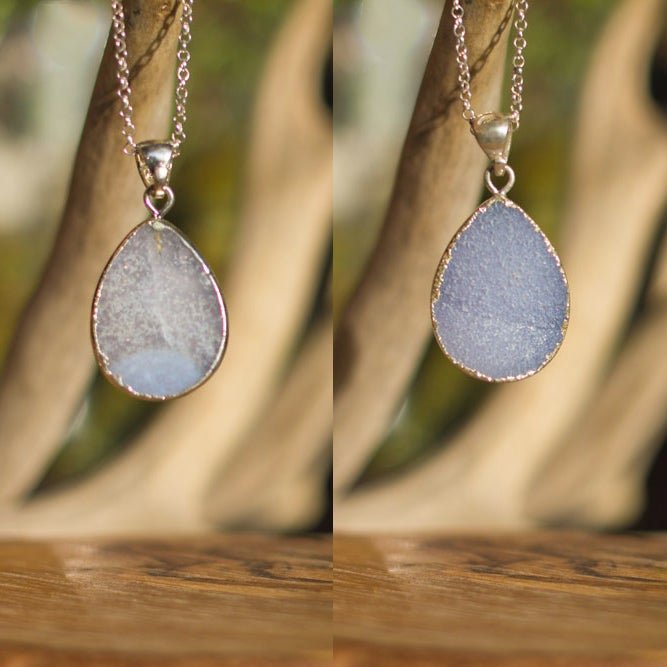Image of Chalcedony Tear Drop necklace