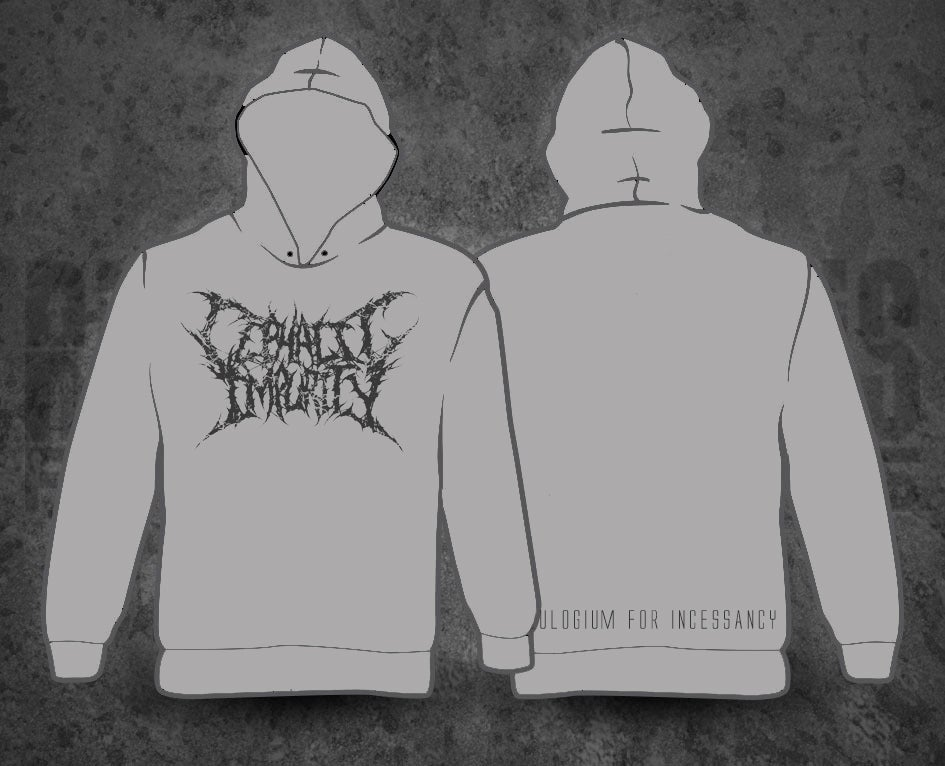 Image of CEPHALIC IMPURITY - Eulogium For Incessancy Grey Hoodie