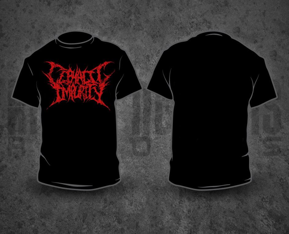 Image of CEPHALIC IMPURITY - Red Logo T-Shirt