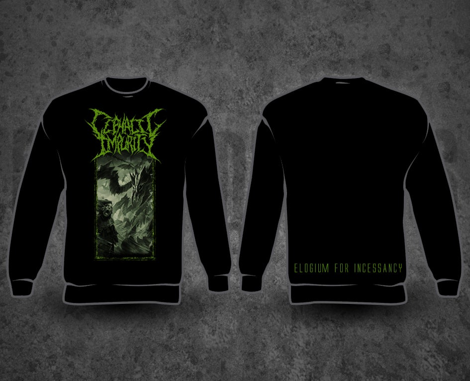 Image of CEPHALIC IMPURITY - Artwork Black Longsleeve