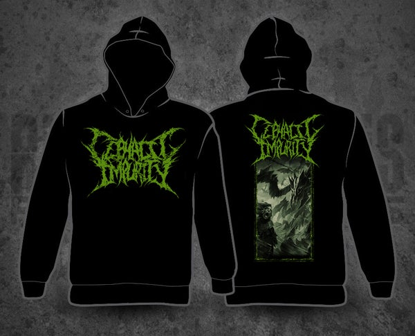 Image of CEPHALIC IMPURITY - Artwork Black Hoodie