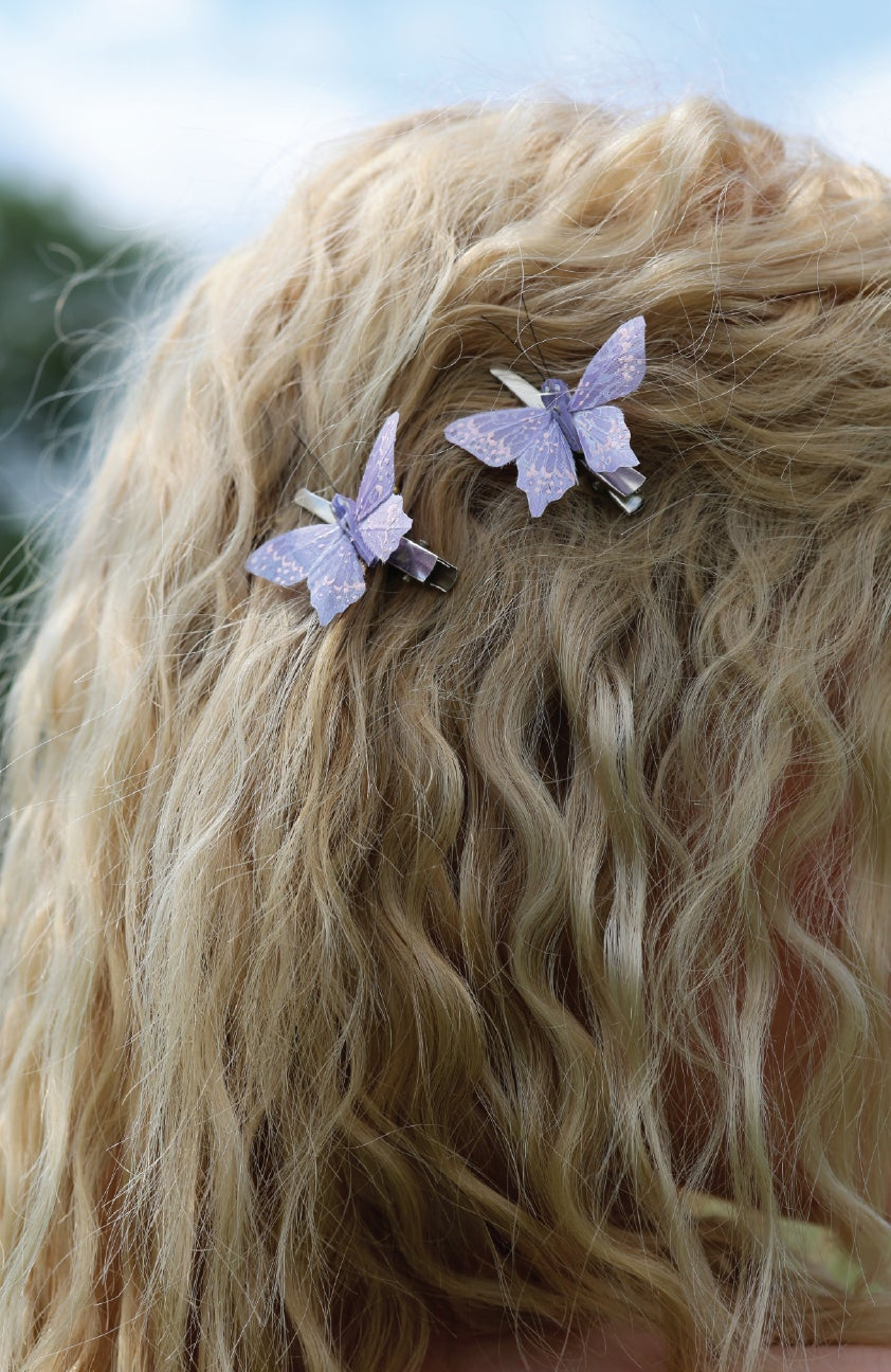 Image of Lilac hand painted butterflies