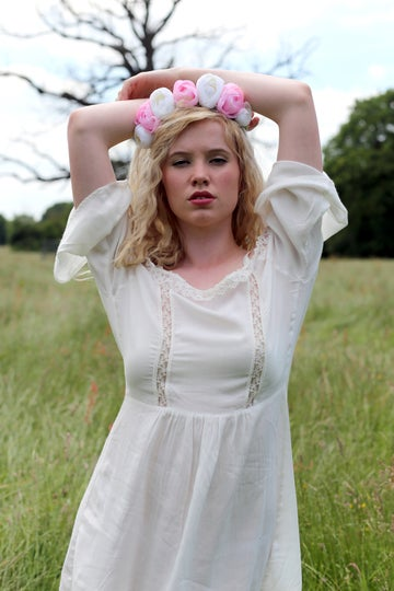 Image of Ava Peony Crown Pink and Ivory