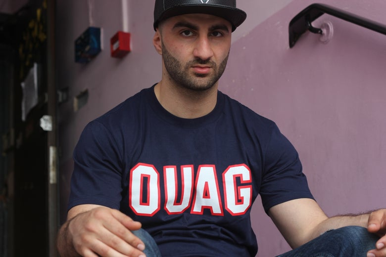 "Image of Navy ""OUAG"" initals t-shirt"