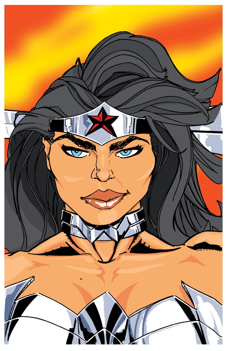 "Image of <font size=""3"">WONDER WOMAN </font><br>READY FOR A FIGHT<br><font color=""000000"">"