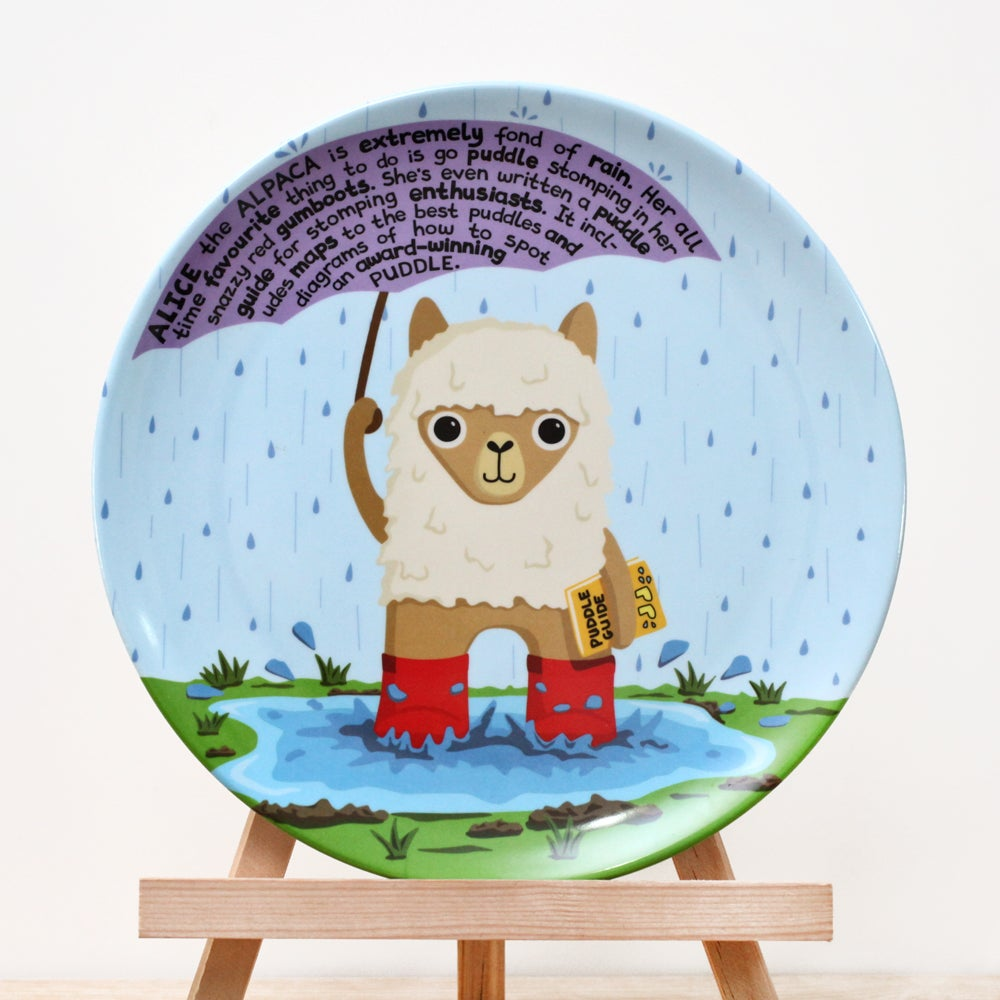 Image of Alice the Alpaca Plate