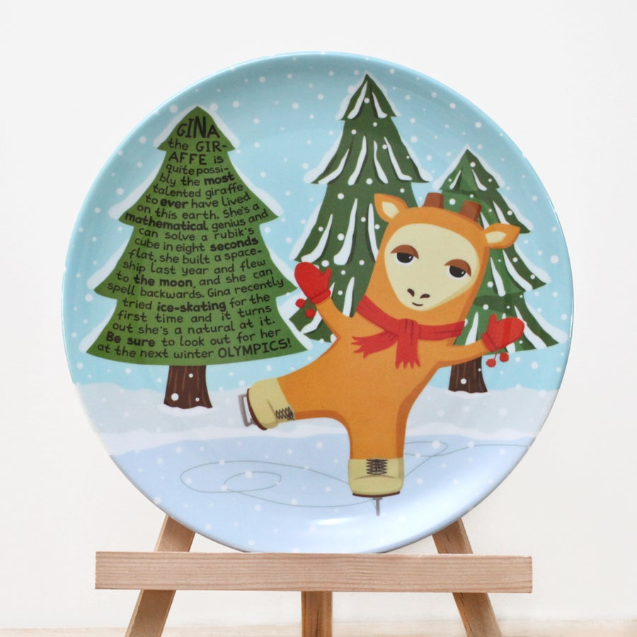 Image of Gina the Giraffe Plate