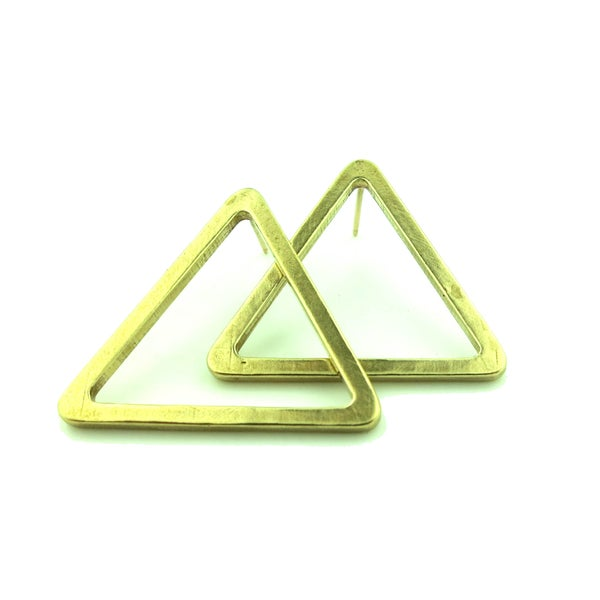 Image of TRIANGLE STUD EARRINGS