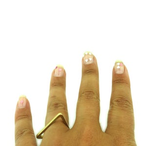 Image of TRIANGLE SHAPED STACKABLE RING