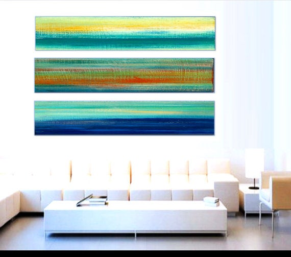 Image of 'THE BEACH IN 3, NO12' | Large Abstract Painting | Wood Wall Sculpture | Modern Wood Art