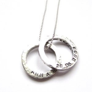 Image of Personalised Mini Circles Necklace