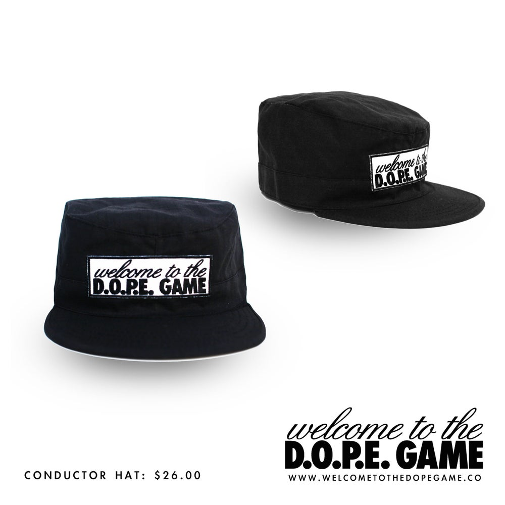 Image of Welcome to the D.O.P.E. Game Conductor Hat