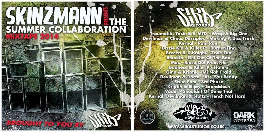 Image of SKINZMANN presents: THE SUMMER COLLABORATION MIXTAPE 2014 (brought to you by SIKA records)