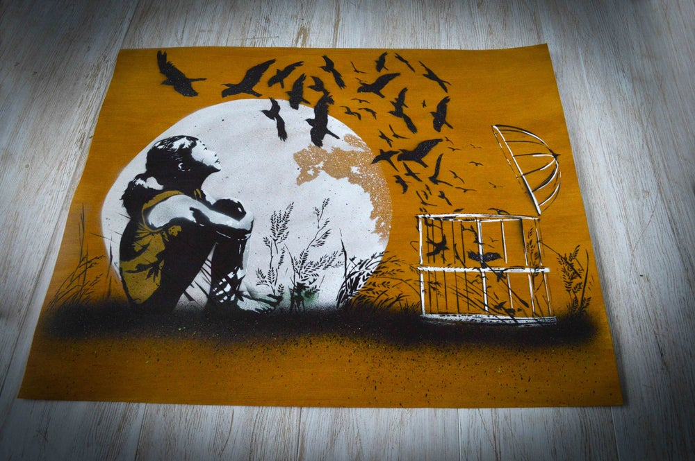 "Image of ""Released"" - Wooden Veneer Sheet Edition"