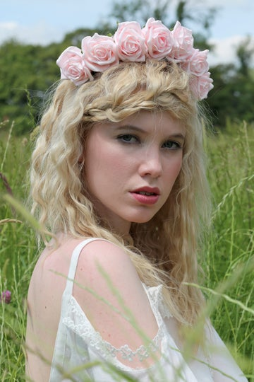 Image of Blooming Rose Crown Baby Pink