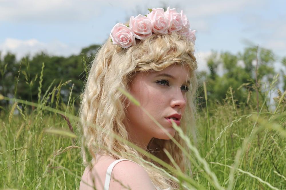 Image of Blooming Rose Crown Baby Pink