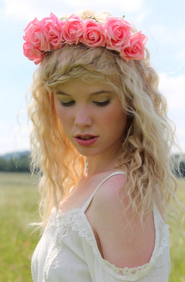 Image of Blooming Rose Crown Candy Pink