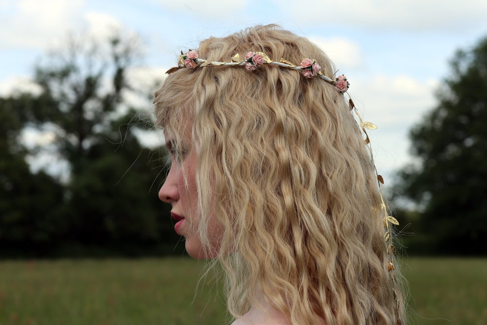 Image of Liberty Rose Garland Peach and Gold